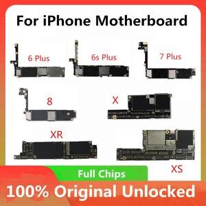 Image 2 - 100% desbloqueado placa mãe para iphone 5 5c 5S 6p 7p 8 xr xs x placa lógica mainboard com chips sem placa lógica de impressão digital
