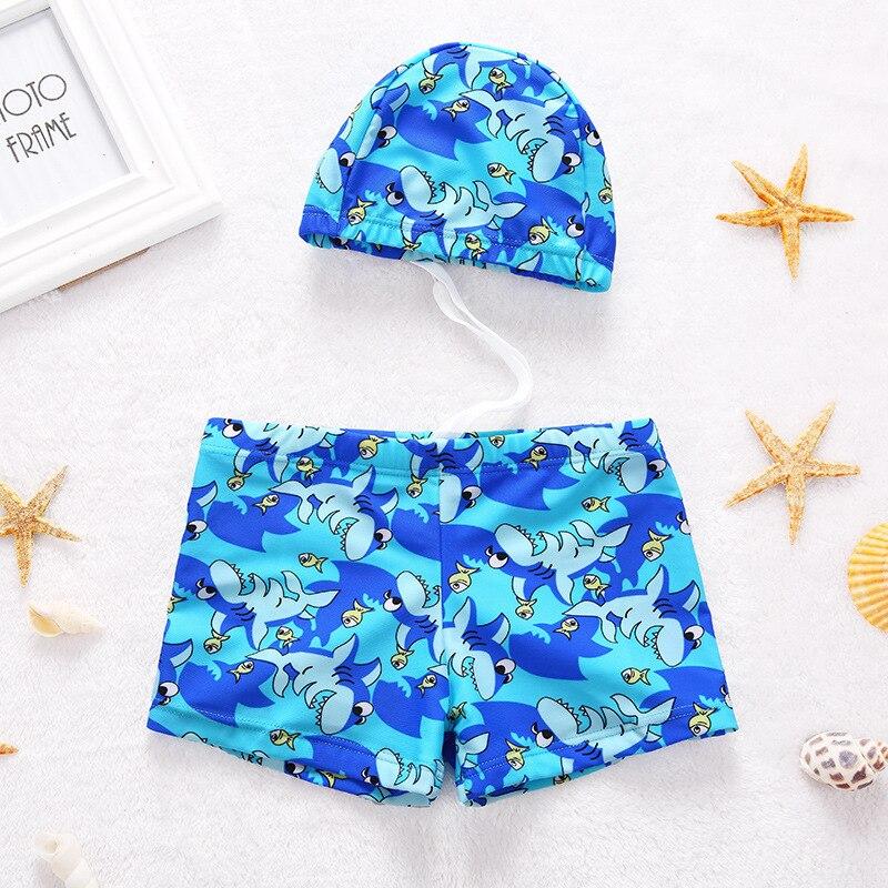 2018 New Style CHILDREN'S Swimming Trunks BOY'S Boxer Bathing Suit Tour Bathing Suit Hooded Children Split Type Swimwear Big Boy