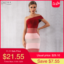 Adyce 2020 New Summer Women One Shoulder Bandage Dres Sexy Sleeveless Mid Calf Bodycon Club Celebrity Evening Runway Party Dress