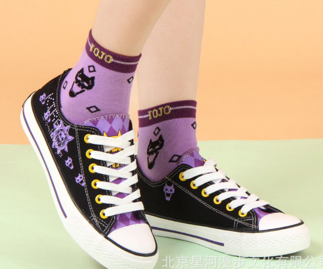 JOJO's Bizarre Adventure Golden Wind cos canvas fashion shoes casual men and women college anime cartoon students low help 3