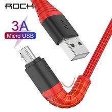 ROCK Hallo-Zug Micro USB Kabel Für Samsung S6 S5 Xiaomi Redmi Hinweis 4X Nylon Data Sync Schnelle Microusb geflochtene Ladegerät Kabel 120CM