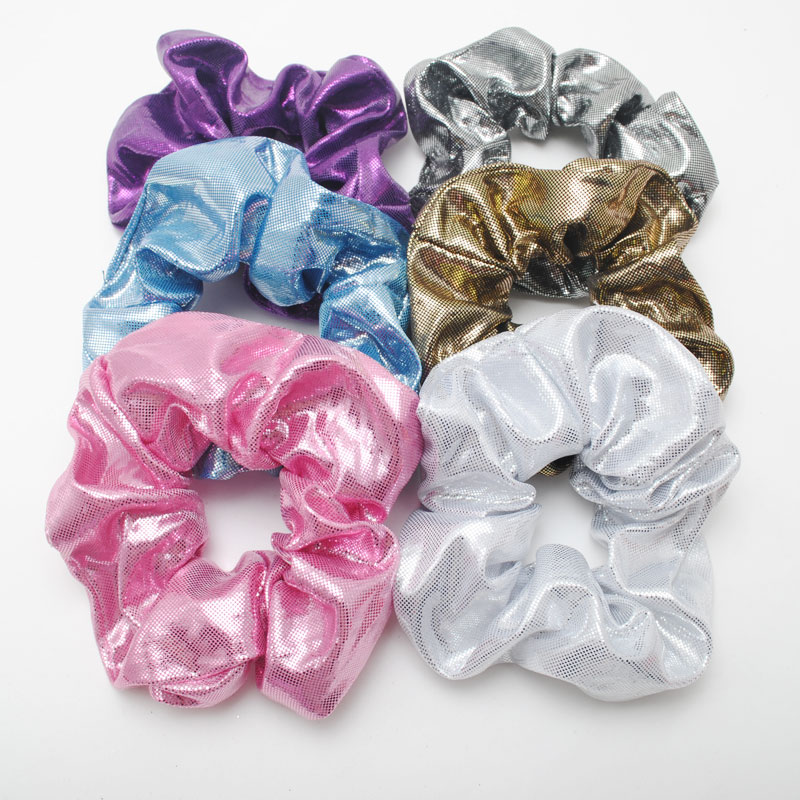 6 Pieces New Shiny   Women Hair Scrunchies Girls Elastic Hair Bands Ladies Ponytail Hair Holders Gift Hair Accessories