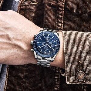 Image 5 - BENYAR 2019 メンズ腕時計トップの高級ブランドビジネススチールクォーツ時計カジュアル防水男性腕時計レロジオ Masculino