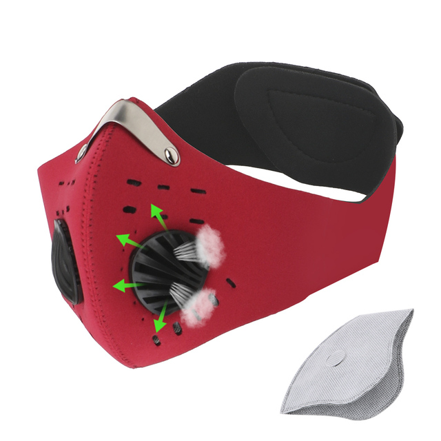 Reusable Cycling Mask With Filter Protective Activated Carbon Anti-Pollution Masks Breathing Valve Protection Safe Mouth Masks