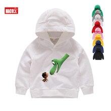Kids Long Sleeves Jurassic Dinosaur Hoodies Boys Cartoon Park Print Sweatshirts Winter White 2T-8T