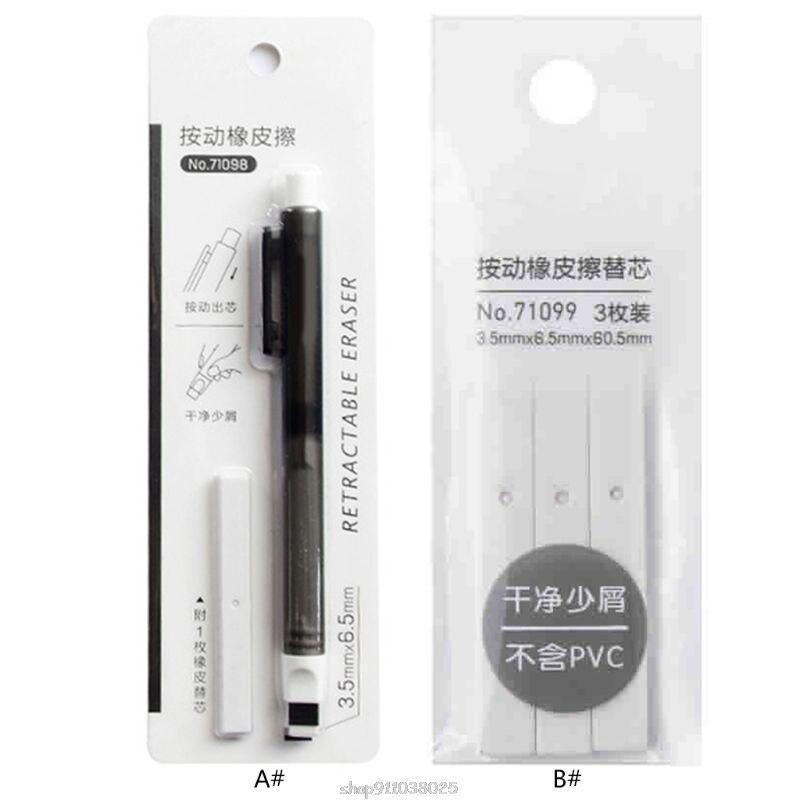 Press Retractable Pencil Eraser Writing School Student Supplies Stationery for art Sketch Ja21 21 Dropship