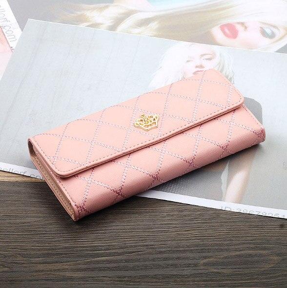 Женский кошелек, сумка для мобильного телефона, фирменный дизайн, Женский кошелек из искусственной кожи, длинные женские кошельки и кошельки, женский тонкий держатель для карт, кошелек - Цвет: 2pink