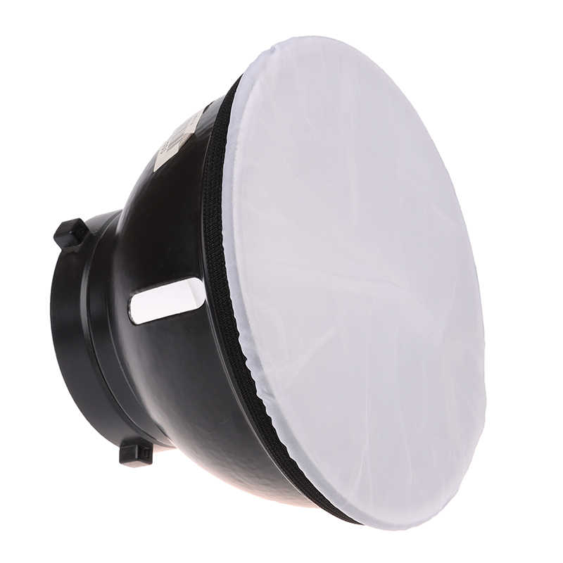 "1pc Photography Light Soft White Diffuser Cloth for 7"" 180mm Standard Studio Strobe Reflector"