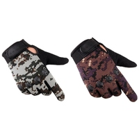 Tactical Training Gloves Full Finger Fishing Gloves Anti Slip Rubber Mittens Hunting Camping Cycling Camouflage Outdoor Sport M