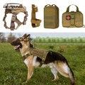 Тактический полицейский жилет для собак  жгут  военный Молл  водонепроницаемый патруль  регулируемый К9  собачий жгут с ручкой для тренирово...