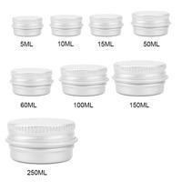 50pcs Durable Round Aluminium Empty Cosmetic Pot Jar Tin Container Screw Lid Box for Cosmetic Cream Makeup Tools Gift Paking