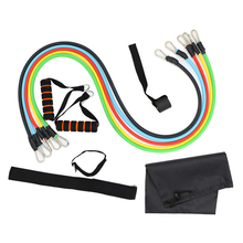 11Pcs Resistance Bands Set Yoga Fitness Elastic Rubber Band Workout Expander Pull Rope Home Body Stretch Gyms Equipments D30