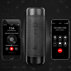 Image 3 - kebidu JAKCOM OS2 Portable wireless bluetooth speaker outdoor waterproof bicycle speaker with powerbank flashlight support TF FM
