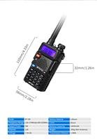 מכשיר הקשר 10pcs Retevis RT-5R DTMF מכשיר הקשר 5W 128CH UHF + VHF Dual Band רדיו שני הדרך רדיו Communicator Hf משדר A7105A (2)