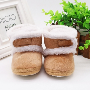 Warm Newborn Toddler Boots Winter First Walkers baby Girls Boys Shoes Soft Sole Fur Snow Booties for 0-18M 1