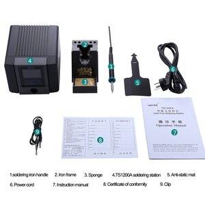 Image 5 - سريع TS1200A أفضل نوعية محطة لحام خالية من الرصاص الحديد الكهربائية 120 واط مكافحة ساكنة لحام 8 ثانية لحام سريع التدفئة