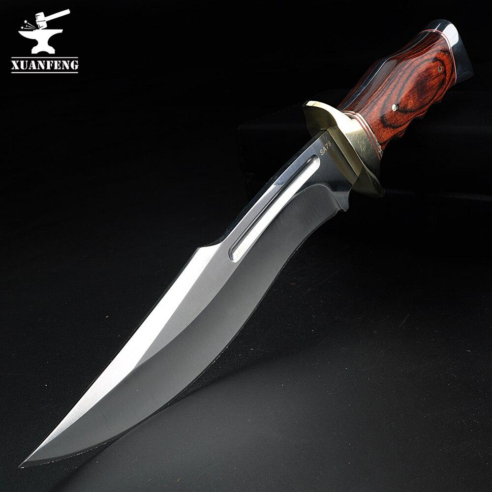 Походный нож для кемпинга, охоты, самообороны, короткий нож, прямой нож, нож для выживания, высокопрочный Военный нож, нож в отставке Ножи      АлиЭкспресс