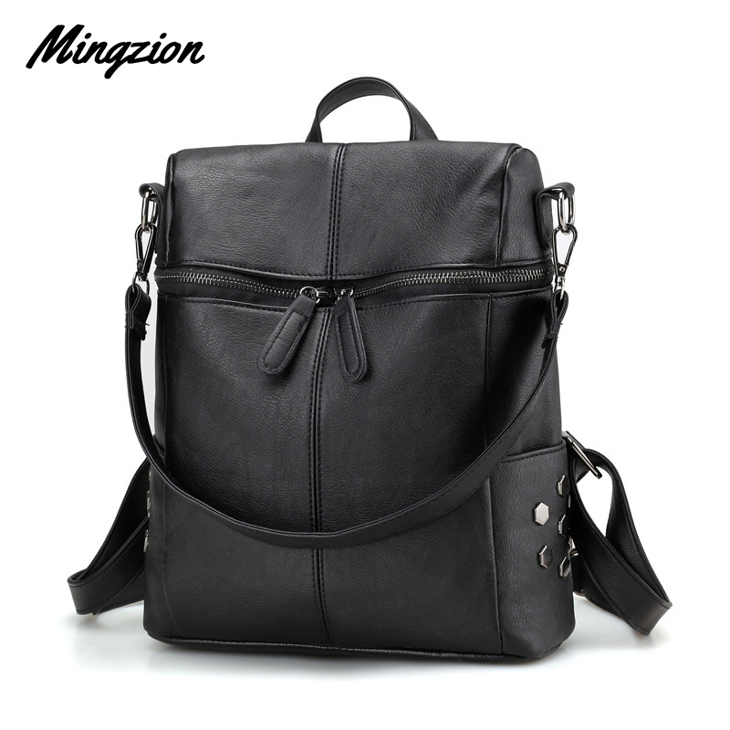 Mingzion Large Capacity Backpack Single Shoulder And Double Shoulder Bag Brand Travel Students Bagpack Mochila
