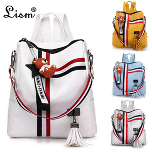 bags for women 2020 new retro fashion zipper ladies backpack PU Leather high quality school bag shoulder bag for youth bags(China)
