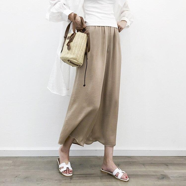 Zmra Cupro Loose   Pants   Women's 2019 New Style Loose Casual Thin Drape Viscose   Wide     Leg     Pants