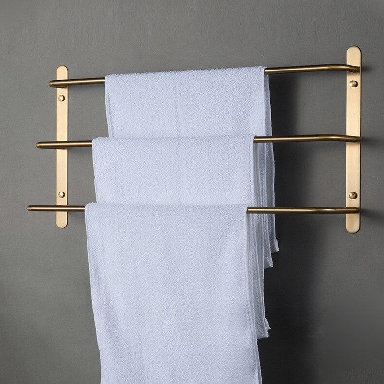 Porte-serviettes de salle de bain en or porte-serviettes en acier inoxydable porte-serviettes adhésif accessoires de salle de bain livraison gratuite