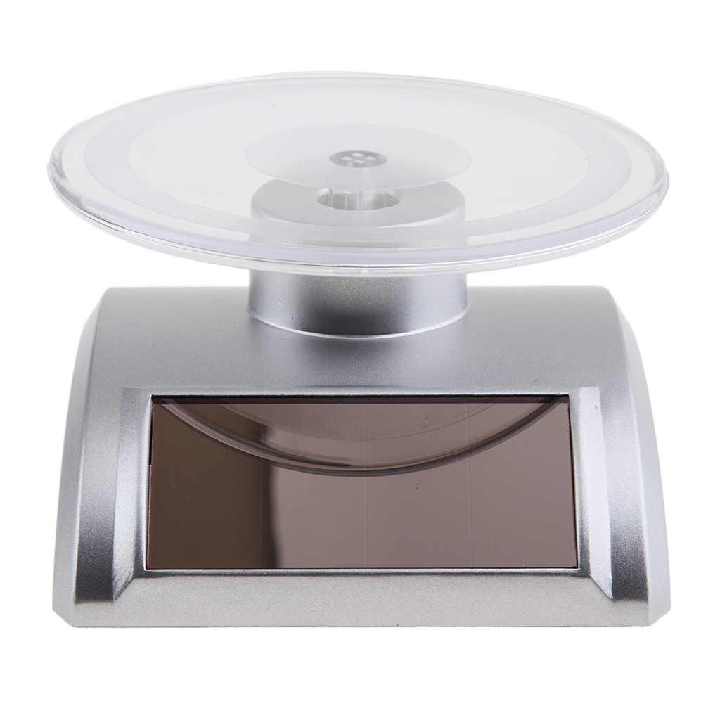 Turntable Display Solar Energy Rotating Display 360 Degree Jewelry Show Base