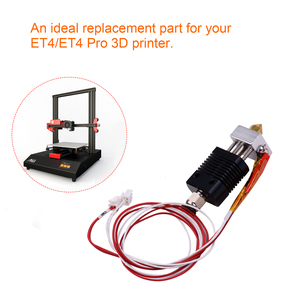 3D Printer Full Metal Hotend Extruder Kit Hot End Set with 0.4mm Nozzle 100K Thermistor Heatsink Wire 24V for ET4/ET4 Pro(China)