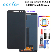 Ocolor ため Blackview 最大 1 液晶ディスプレイとタッチスクリーンデジタイザアセンブリの交換 + 接着剤 + フィルム blackview 最大 1