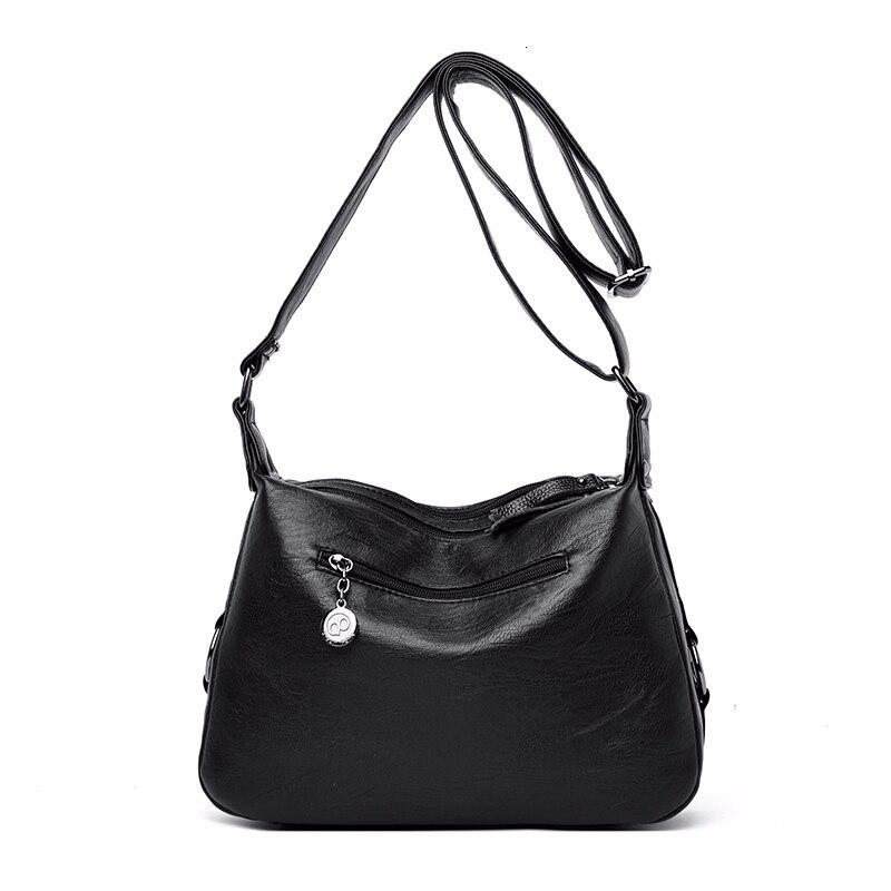 Image 4 - Crossbody Bags For Women Messenger Bags Female Soft Leather Shoulder Bag  Sac A Main Luxury Designer Vintage HandBags Women NewTop-Handle Bags   -