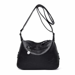 Image 4 - Crossbody torby dla kobiet Messenger torby kobiet miękka skóra torba na ramię Sac główna luksusowe projektant torebki w stylu Vintage kobiety nowy