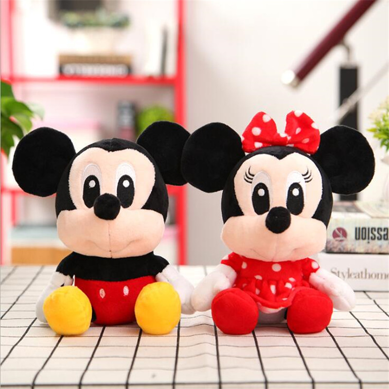 Disney Mickey Mouse Minnie Plush Toys Doll Stuffed Animals Stitch Vigny Bear Children Best Gifts
