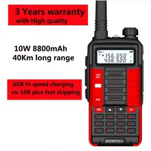 Walky Radio-Station Walkie-Talkie Baofeng Uv Professional Amateur 10r-Plus 10w Ham 8800mah