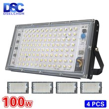 4 шт/лот 100 Вт Светодиодный прожектор ac 220 В 230 в 240 наружный