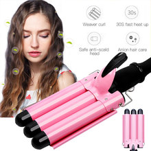 Professional DIY Hair Curling Iron Ceramic Triple Barrel Hair Waver Styling Tools Electric Hair Styler Wand Hair Curler Rollers professional hair curler crimper ceramic corrugated curler curling iron hair styler electric corrugation wave styling tools
