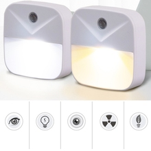 Modern Intelligent Induction Bedside LED Light Energy Saving Control night light  Plug Type