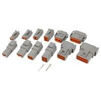 1 zestaw DTM złącze samochodowe wodoodporna wtyczka osłona z terminalem DTM06 2 + 3 + 4 + 6 + 8 + 12S i DTM04 2 + 3 + 4 + 6 + 8 + 12P w Złącza od Lampy i oświetlenie na