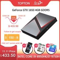 Topton-Gaming Mini PC intel Core i9-9980hk,i7,9750h,i5 9300h,nvidia gtx 1650,4GB,2 x ddr4,64GB,Windows 10,4k,dp,hdmi ac,Wi-Fi