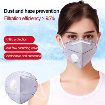 in stock 5/10pcs Reusable KN95 Mask Valved Face Mask N95 Face Mask Mouth Cover Pm2.5 Dust Masks With breathing Valve masks 1
