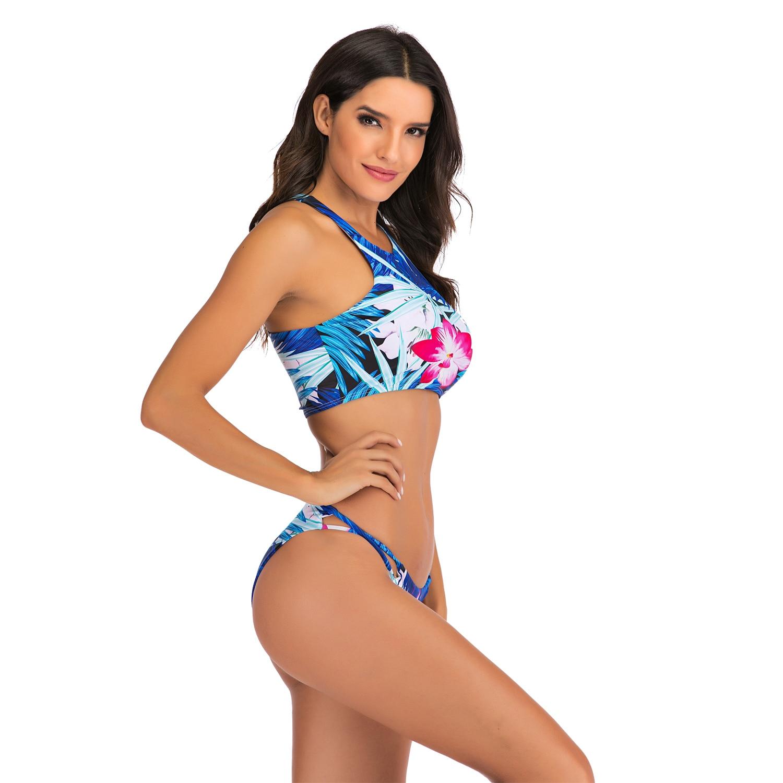 Sexy Bikinis Swimsuit High Waist bikini 2020 Bathing Suit Women Plus Size Swimwear Push Up Bikini Set Vintage Beach Wear Biquini 1