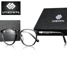 Armação de óculos de miopia óptica de armação de óculos de prescrição redonda retro vintage transparente masculino óculos