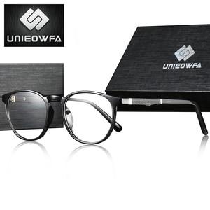 Image 1 - Armação de óculos de miopia óptica de armação de óculos de prescrição redonda retro vintage transparente masculino óculos