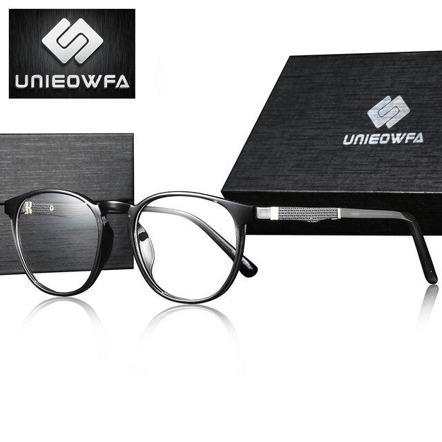 Retroรอบแว่นตากรอบสายตาสั้นกรอบแว่นตาวินเทจแว่นตาชายโปร่งใสแว่นตา
