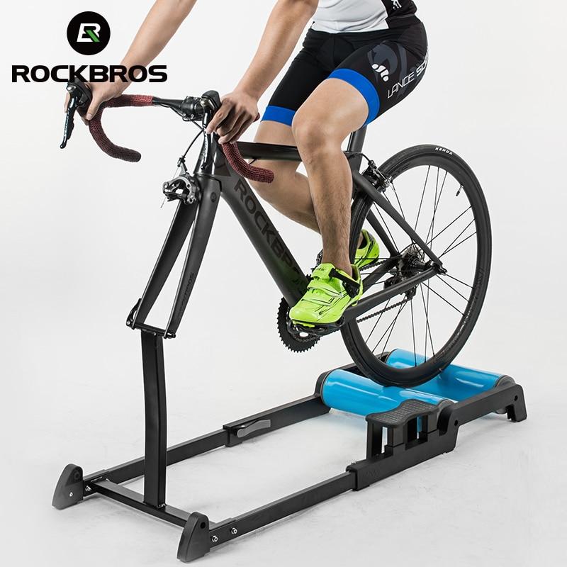 ROCKBROS vélo rouleau réglable en alliage d'aluminium vélo formateur haute résistance exercice vélos intérieur tranquille fourche vélo support