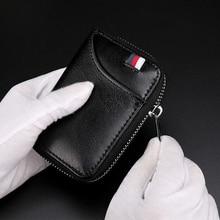 Короткий кошелек из натуральной кожи для паспорта, Rfid, многофункциональная сумка для визиток для мужчин и женщин, вместительные кошельки