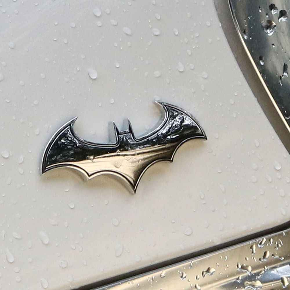 1Pc 3D Metal Bat Auto Logo Auto Sticker Metal Batman Badge Emblem Tail Decal Motorfiets Styling Gereedschap Accessoires
