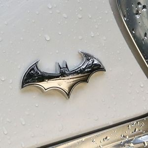 1PC 3D Metal Bat Auto Logo Car Sticker Metal Batman Badge Emblem Tail Decal Motorcycle Styling Tools Accessories(China)