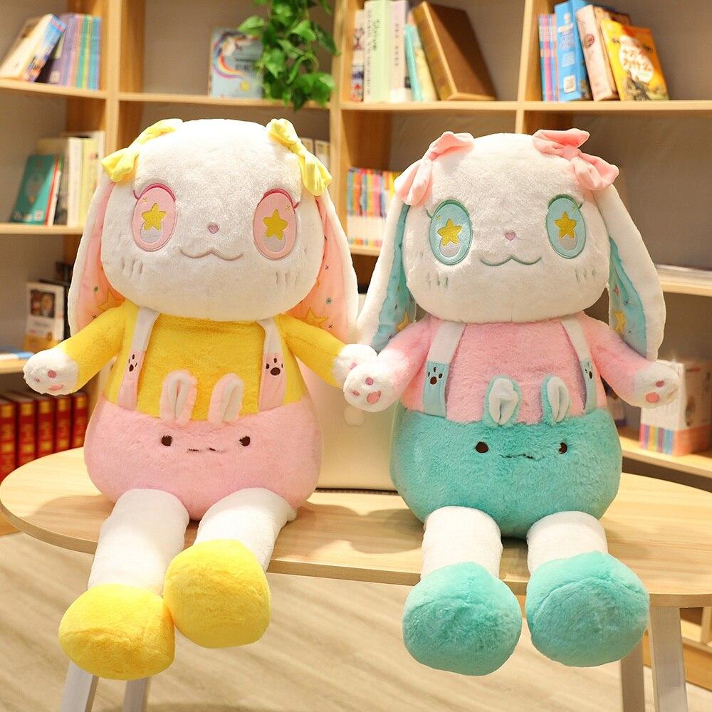 110cm kawaii Lolita lapin en peluche peluche animal longues oreilles lapin grande taille douce poupée cadeau d'anniversaire pour fille petite amie
