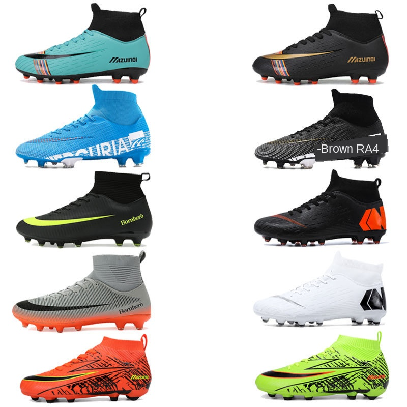 Sneakers Cleats Soccer-Shoes Kids Original Football-Boots Mens Turf Indoor Ankle Breathable