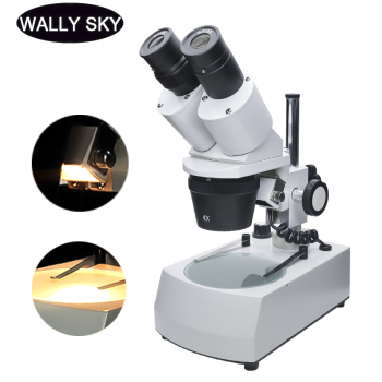 Stereo Microscope 20X 30X 40X Binocular Industrial with Top/Bottom Light Source WF10X Eyepiece for PCB Repairing