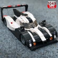 1049 sztuk high-tech Super Sports Car Bricks Creator szary Model samochodu wyścigowego klocki do budowy zestaw zabawek urodziny prezent dla dzieci